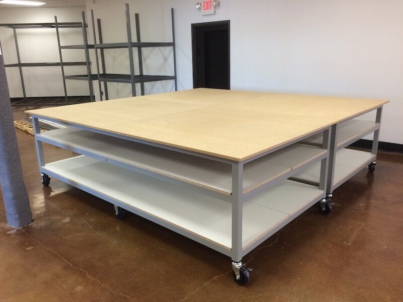 Two 5×10 Welded Substrate Tables