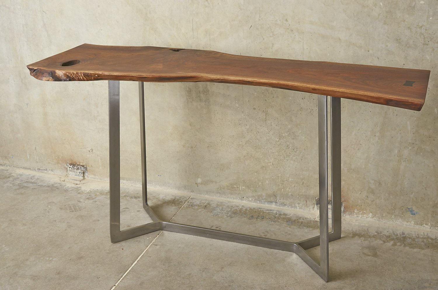 Walnut Live Edge Console