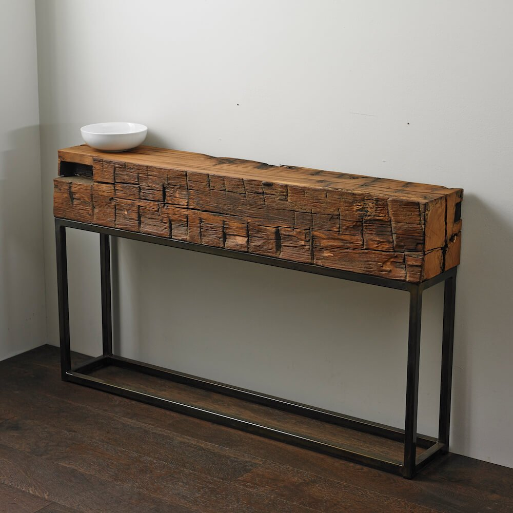 Antique Beam Console Table