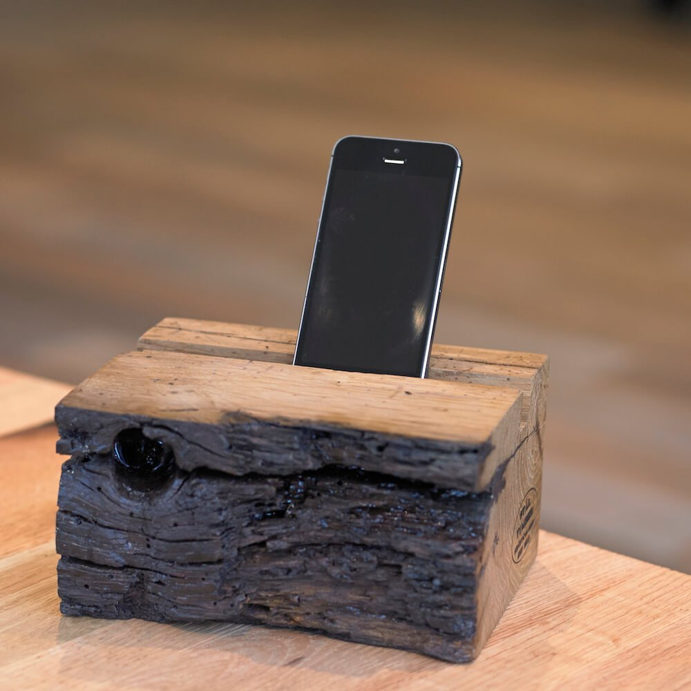 Antique Oak Phone Perch