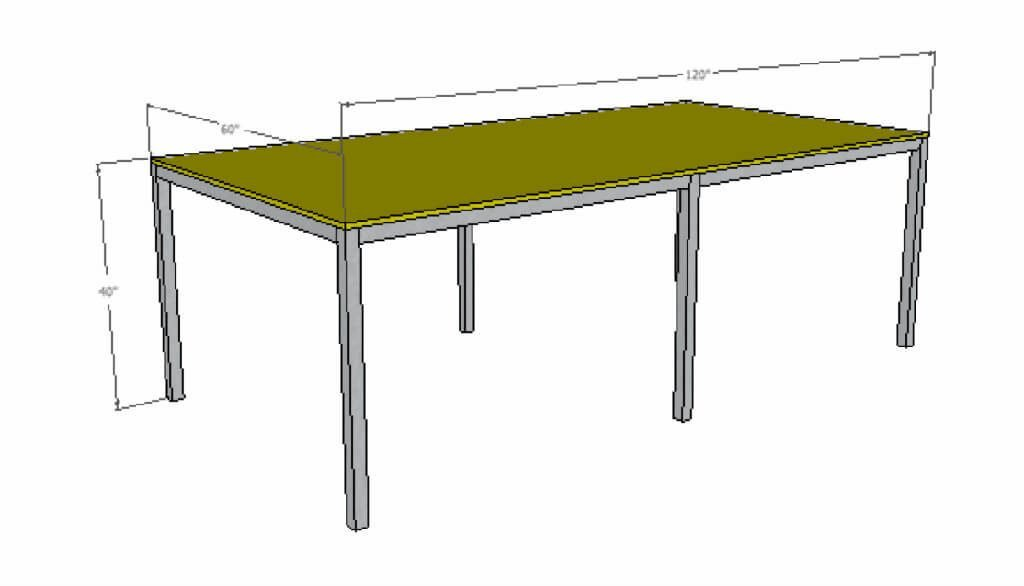 basic 5 foot by 10 foot commercial table