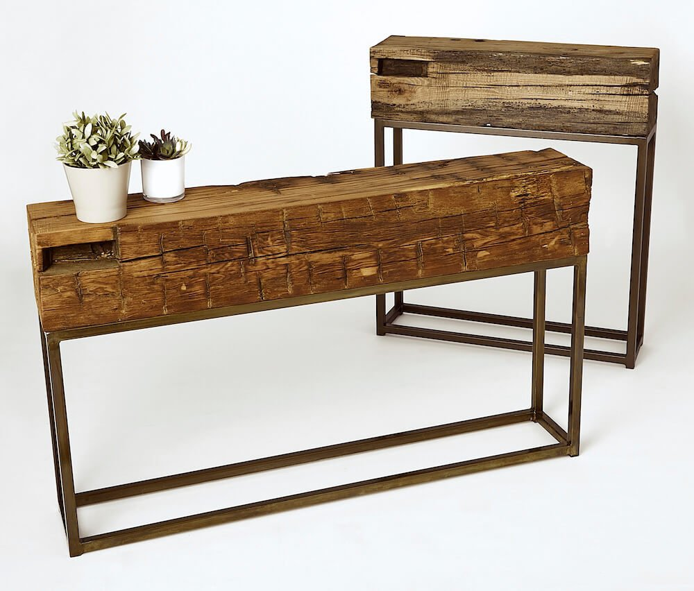 Antique Beam Console Tables