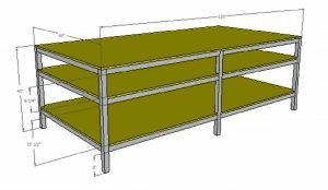deluxe 5 foot by 10 foot commercial table