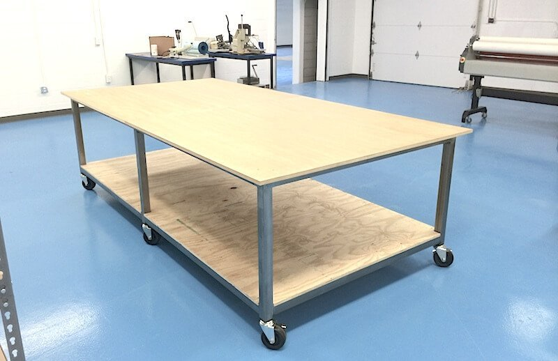 Standard commercial table that can be chosen and customized for your work space.