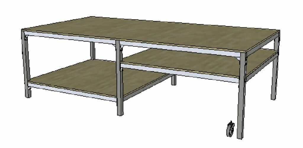 hybrid 5 foot by 10 foot commercial table