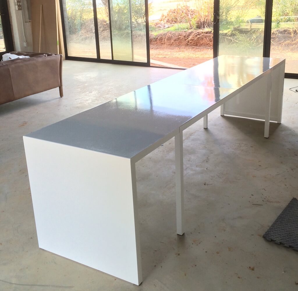 Kitchen table and counter