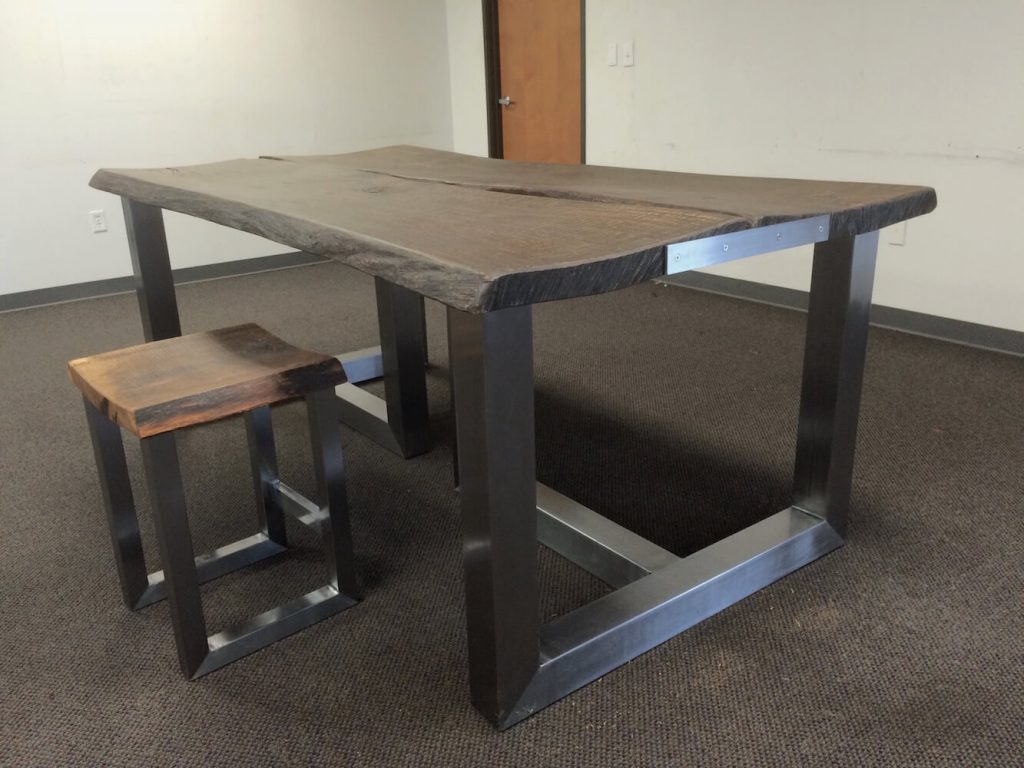 Steel and Oak Conference Table