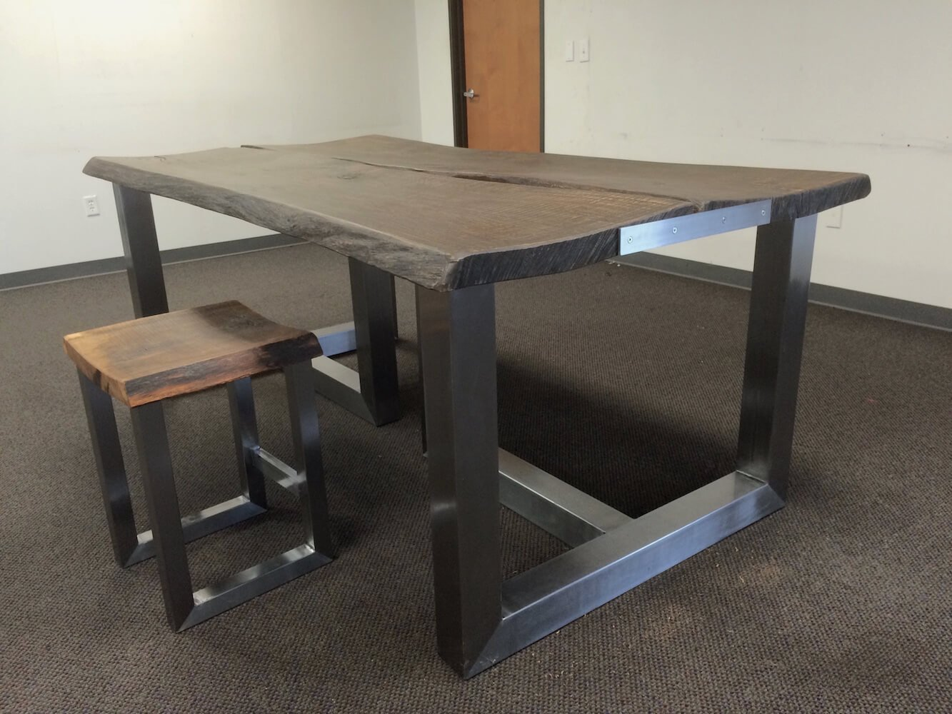 Oak plank conference table
