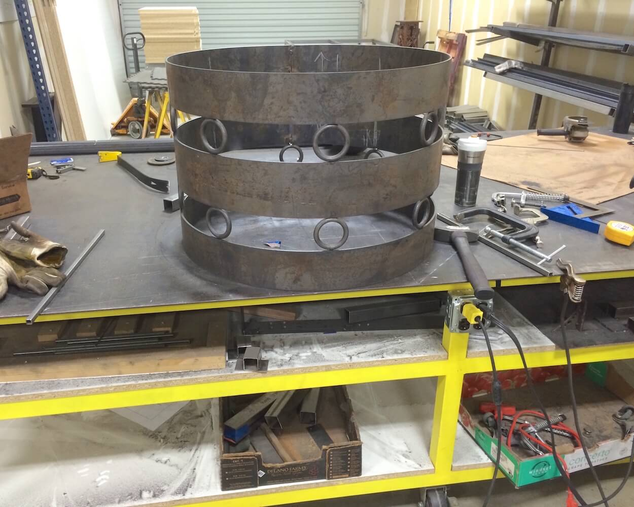 Outdoor table base – fabrication