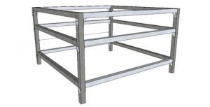 square or starter 5 foot by 5 foot commercial table
